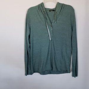 Prana green Womans light hoodie S